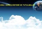 güneş sistemi ve tutulmalar